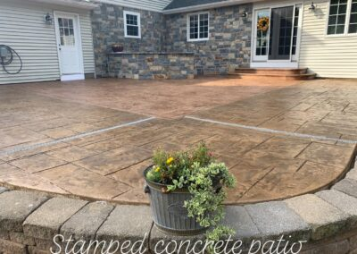 Stamped Concrete Patio Project in Southington, CT