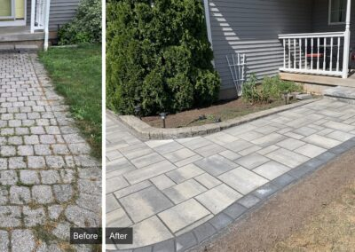 Stone Patio Construction Project in Southington, CT