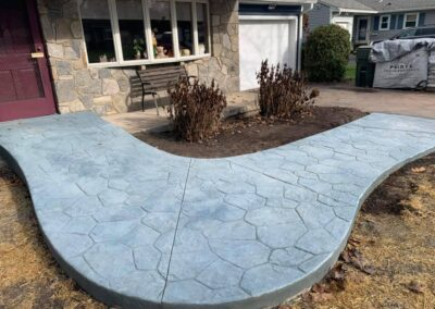 Stamped Concrete Patio Project in Cheshire, CT