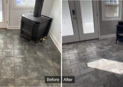 Tile Flooring Installation Project