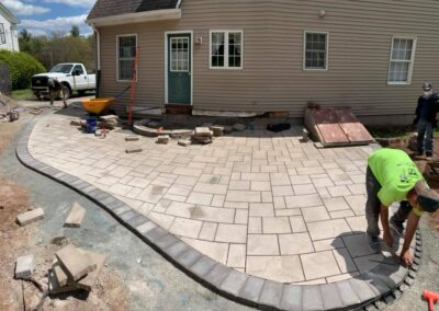 Stone Patio and Walkway Installation Project in Southington, CT