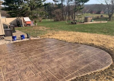 Stamped Concrete Patio Installation Project in Berlin, CT