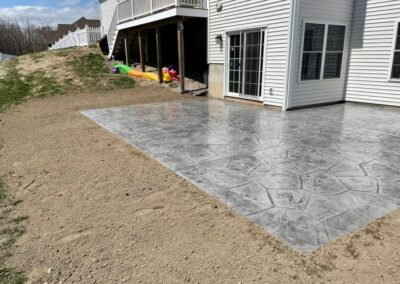 Stamped Concrete Patio Installation in Plainville, CT